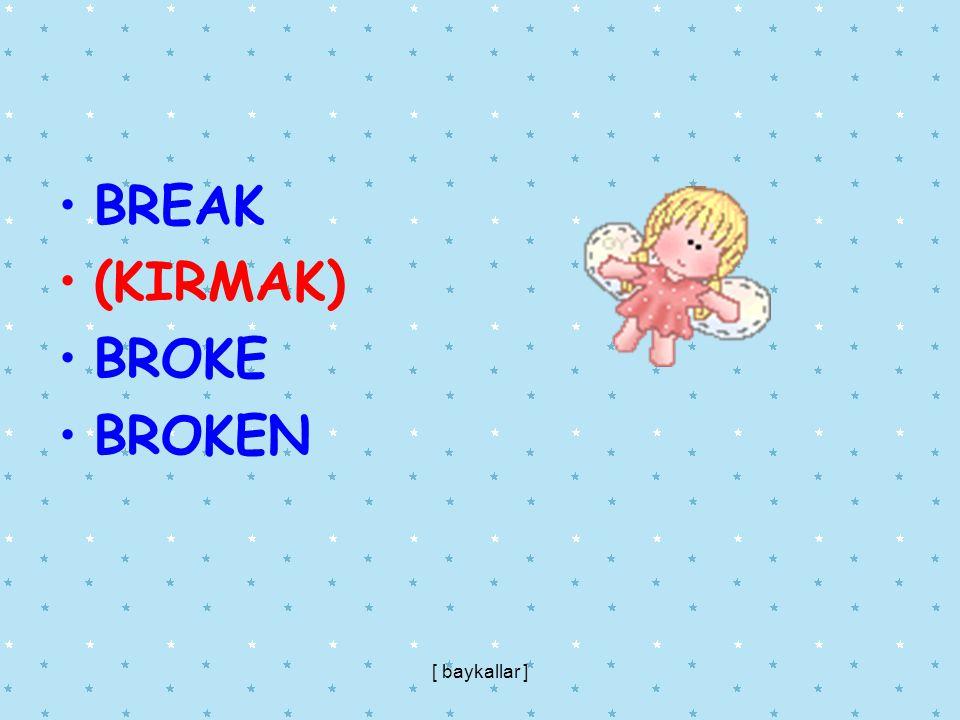 BREAK (KIRMAK) BROKE BROKEN [ baykallar ]